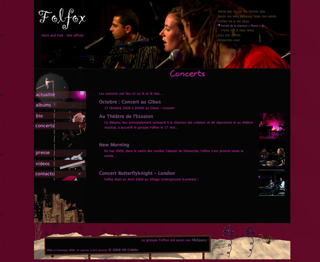 Page Concerts du site du groupe Folfox